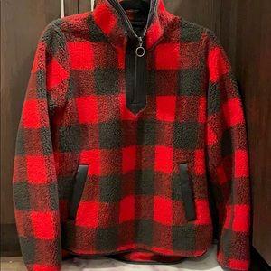 Abercrombie Buffalo Plaid Fleece Half-zip Sz XS